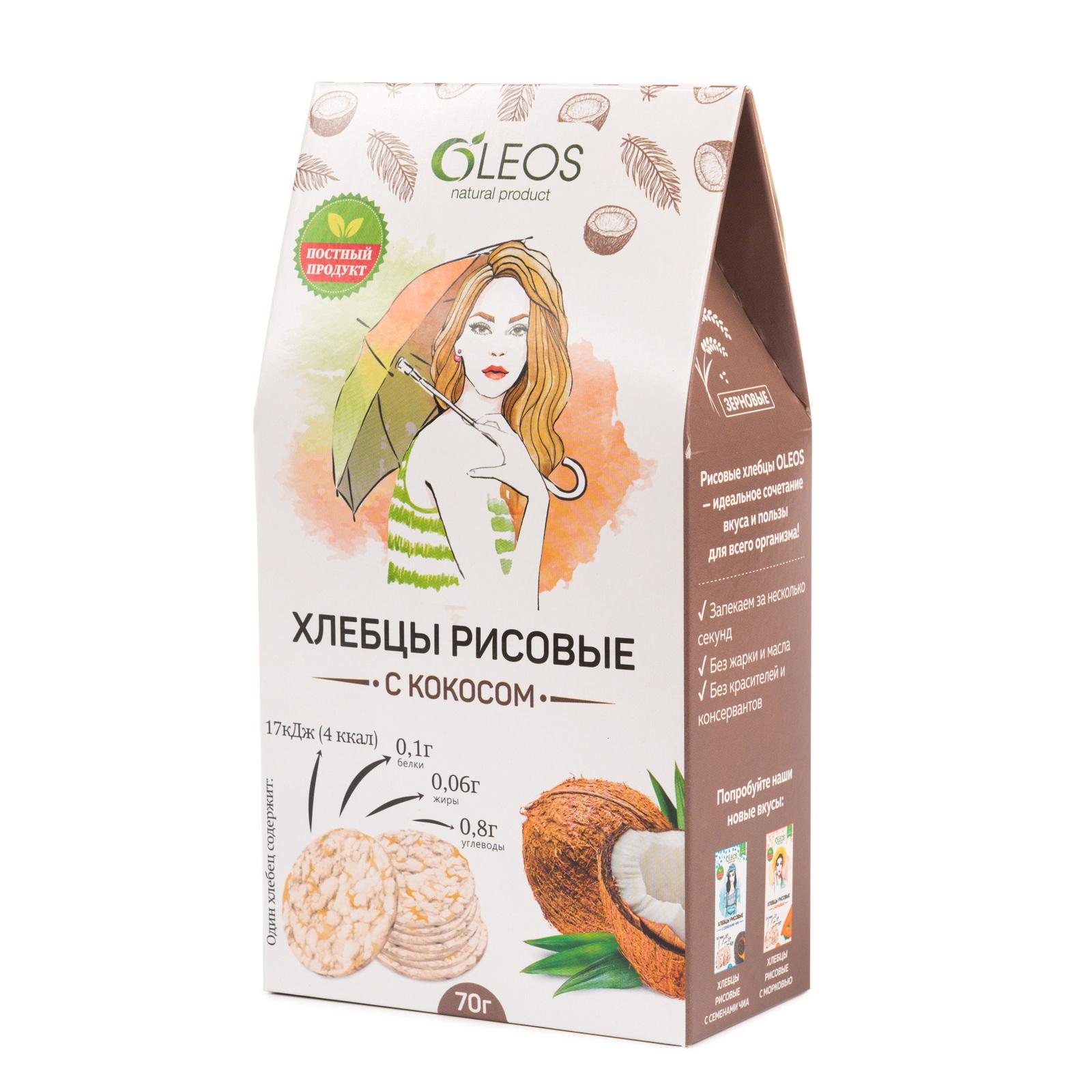 Рисовые хлебцы с кокосом 70 г (2)