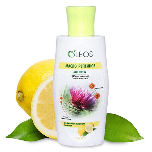 Репейное масло с маслом лимона Олеос