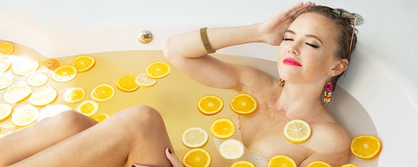 Ванна с эфирным маслом грейпфрута